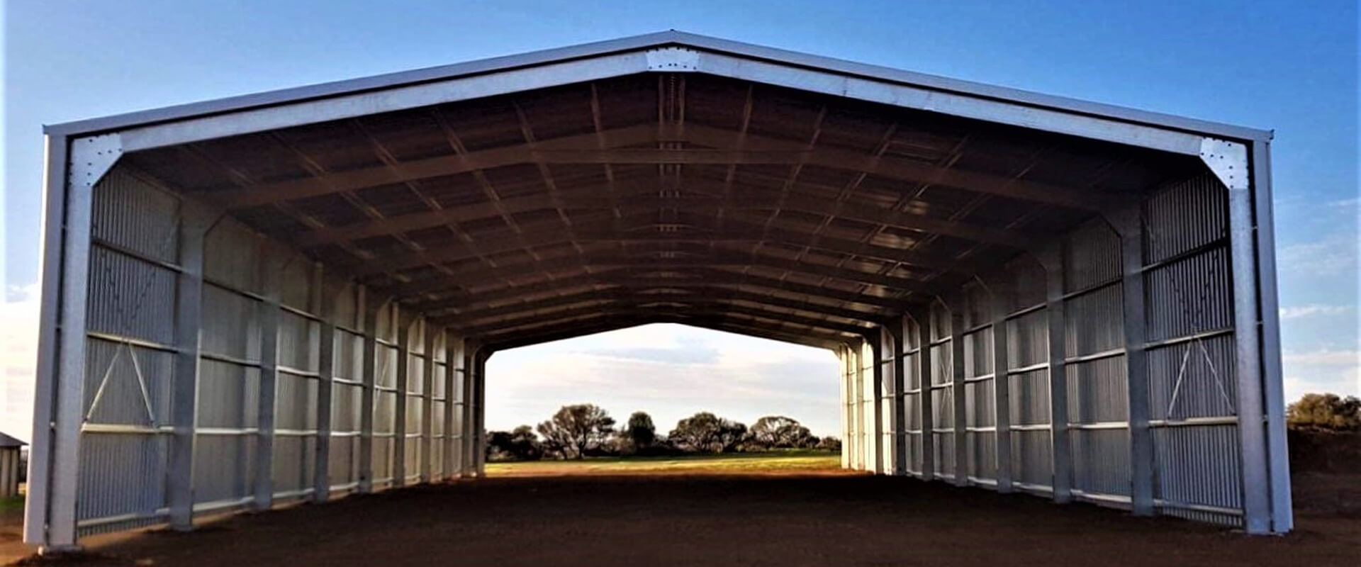 45 x 18 x 6m Drive Through Machinery Shed